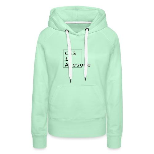 cssawesome - black - Vrouwen Premium hoodie