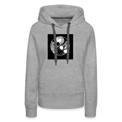 Yng yang skull - Sweat-shirt à capuche Premium pour femmes