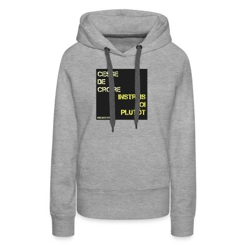 Motivation - Sweat-shirt à capuche Premium pour femmes
