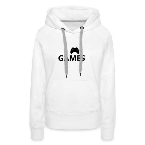 I Love Games 3 - Sudadera con capucha premium para mujer