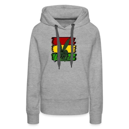 Cannabis - Dame Premium hættetrøje