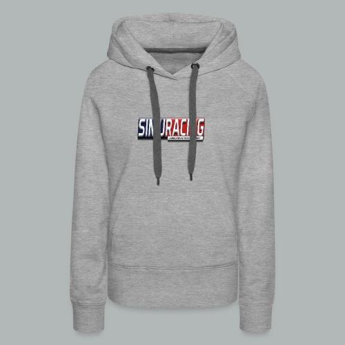 logo Simuracing - Sweat-shirt à capuche Premium pour femmes