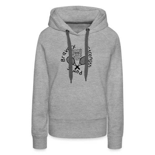 T-Shirt Kämpferherz (Abschlussprojekt A. Gepper - Frauen Premium Hoodie