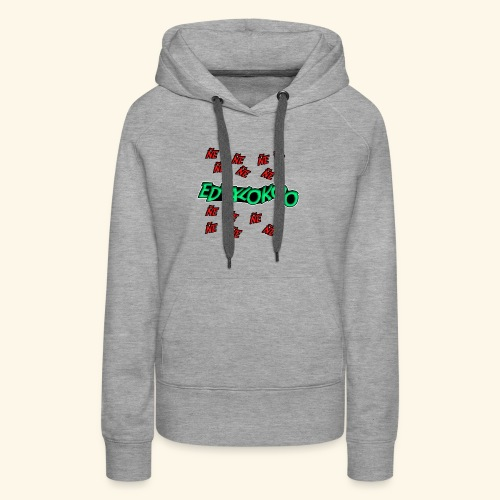 logo de eduxlokoo ñe - Sudadera con capucha premium para mujer