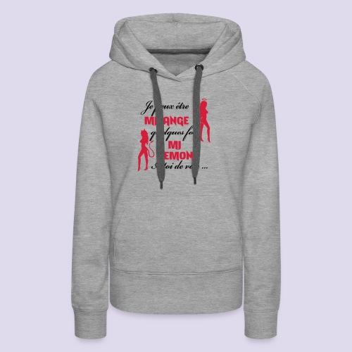 Mi-ange Mi-demon - Women's Premium Hoodie