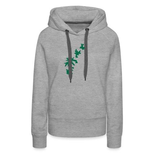 Green Leaves - Frauen Premium Hoodie