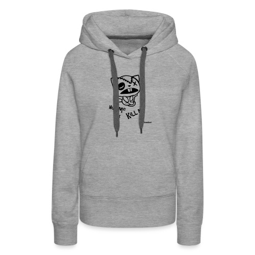 Happy tree friends Hug me or kill me - Dark cat' - Sweat-shirt à capuche Premium pour femmes