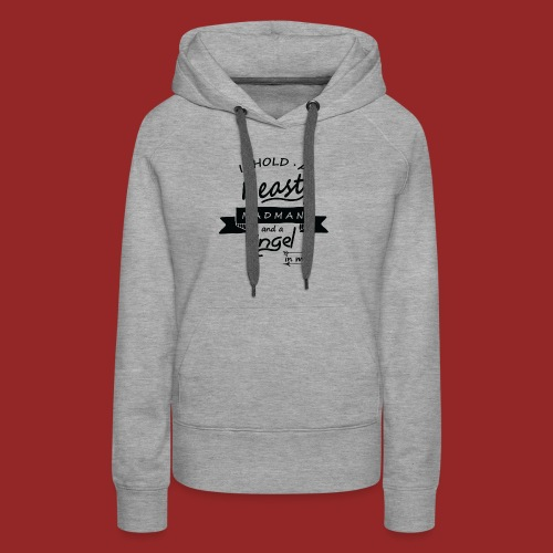 Beast angel madman - Sweat-shirt à capuche Premium pour femmes