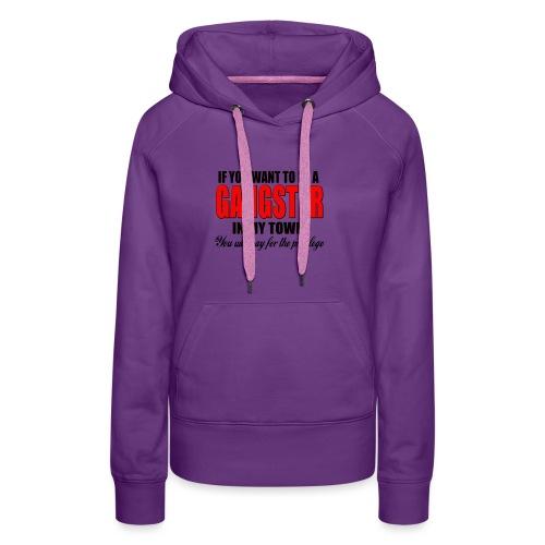 ville gangster - Sweat-shirt à capuche Premium pour femmes
