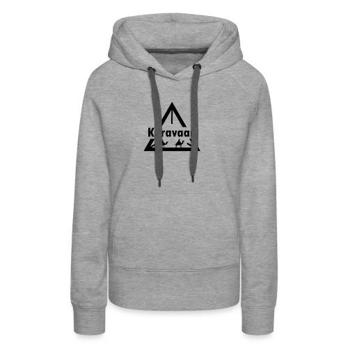 Karavaan Black (High Res) - Vrouwen Premium hoodie