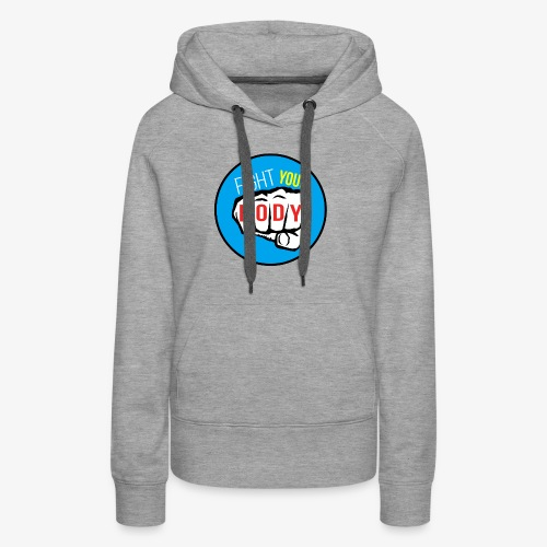 logo fyb bleu ciel - Sweat-shirt à capuche Premium pour femmes