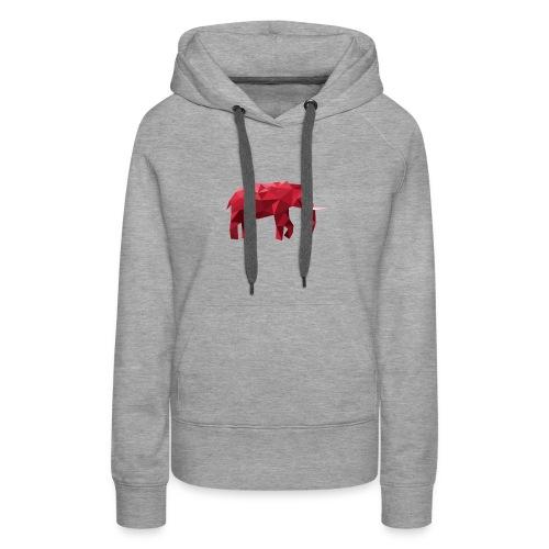 Elefant Vektor Rot - Frauen Premium Hoodie