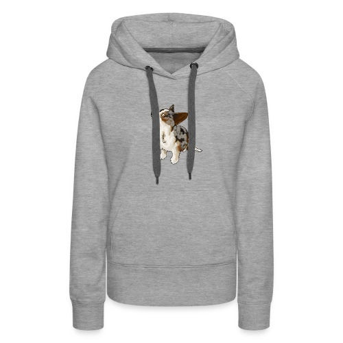 Corgi Merle - Sweat-shirt à capuche Premium pour femmes