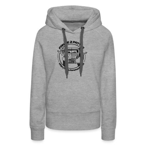 logonoiretblanc - Sweat-shirt à capuche Premium pour femmes