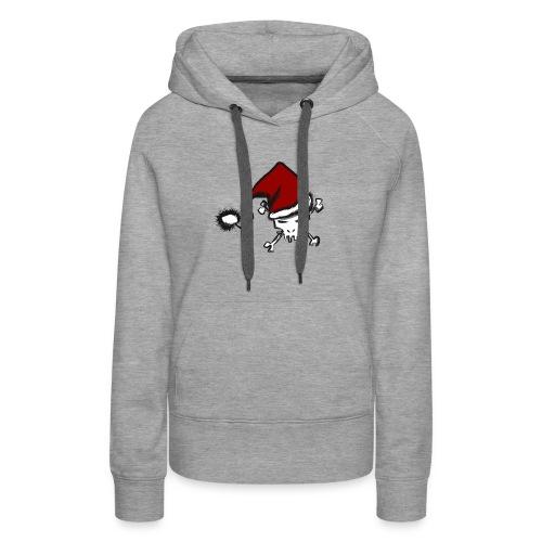 CHRISTMAS SKULL - Sweat-shirt à capuche Premium pour femmes
