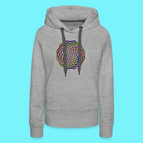Mandala in rainbow colours - Women's Premium Hoodie