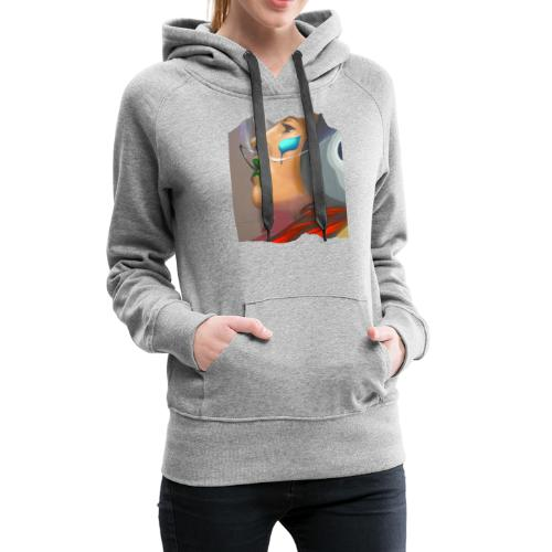 Pilotin-Street Art - Frauen Premium Hoodie