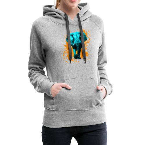 Elefant in Türkis - Frauen Premium Hoodie