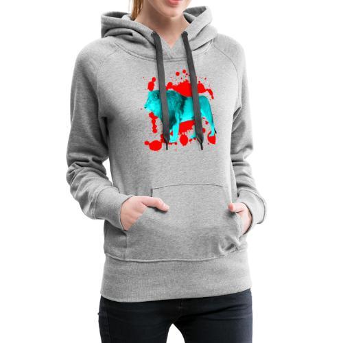 Löwe in Türkis - Frauen Premium Hoodie