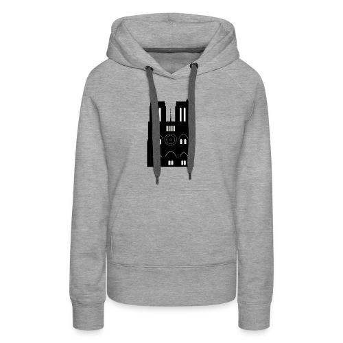 Souvenir de Cathédrale - Sweat-shirt à capuche Premium pour femmes