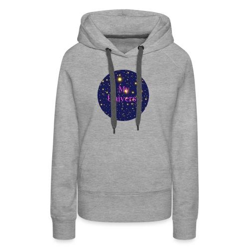 EtoilesMyUniversepink - Sweat-shirt à capuche Premium pour femmes