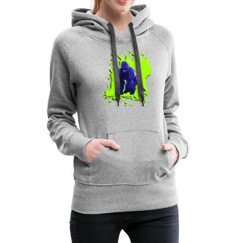 Blue Green Gorilla - Frauen Premium Hoodie