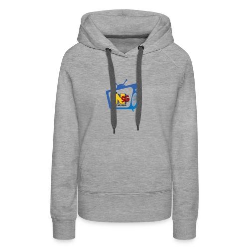 Logo NotSoGood Petit - Sweat-shirt à capuche Premium pour femmes