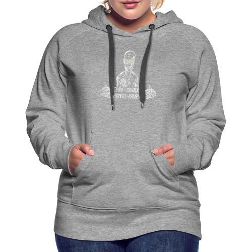 Dark Corridor Logo in Standardgröße mit Schriftzug - Frauen Premium Hoodie