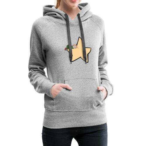 Green Witch sleeping at a Star - Frauen Premium Hoodie