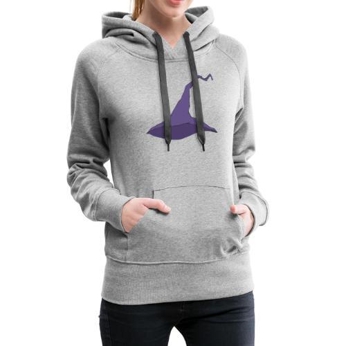 witch hat lila - Frauen Premium Hoodie