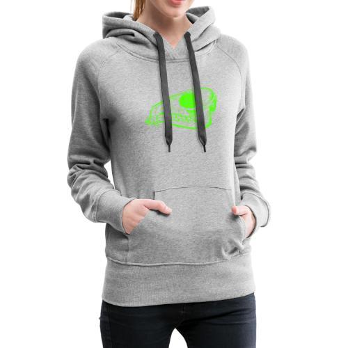 Grüner Säbezahnhirsch Schädel - Frauen Premium Hoodie
