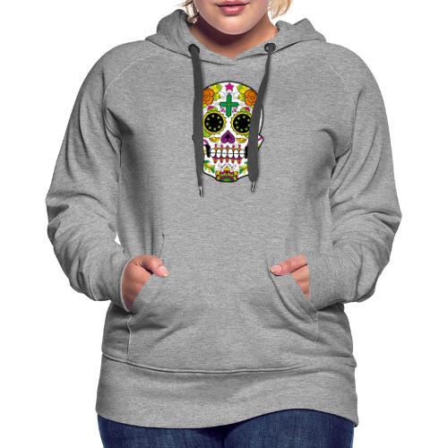 skull4 - Felpa con cappuccio premium da donna