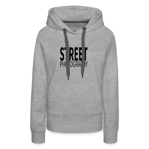 Street photography Black - Felpa con cappuccio premium da donna