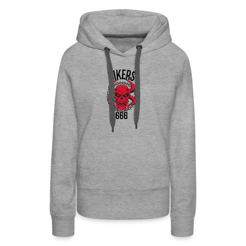 biker devil - Sweat-shirt à capuche Premium pour femmes