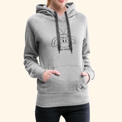 Schafbock: Bock schauen - schwarz - Frauen Premium Hoodie