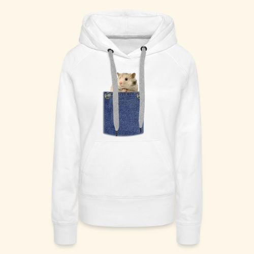 hamster in the poket - Felpa con cappuccio premium da donna