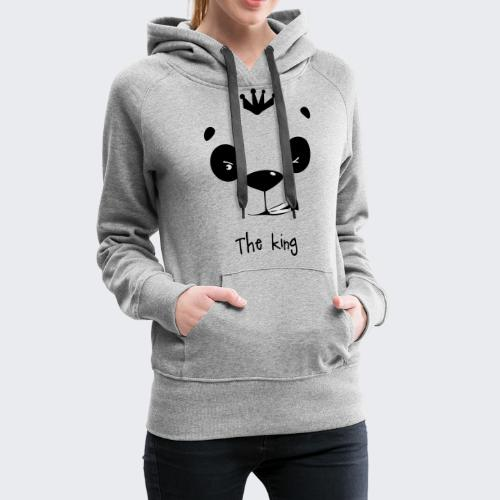 le roi des panda - Sweat-shirt à capuche Premium pour femmes