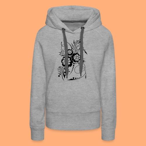 exposion florale - Sweat-shirt à capuche Premium pour femmes