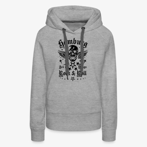 Hamburg Sex Drugs Rock & Roll Skull Wings - Frauen Premium Hoodie
