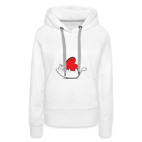 Cat Love - Vrouwen Premium hoodie