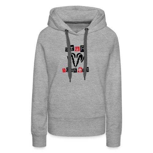 Sturschaedl Band-Logo (heller Hintergrund) - Frauen Premium Hoodie