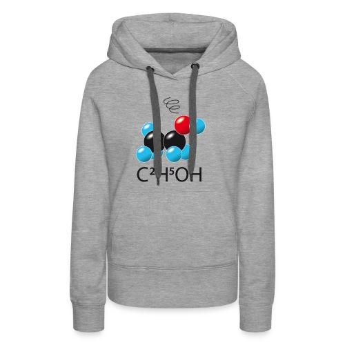c2h5oh (sur Tshirts clairs) - Sweat-shirt à capuche Premium pour femmes