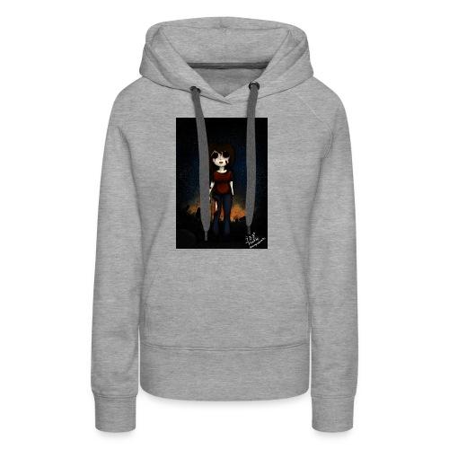 zombie usagi - Sudadera con capucha premium para mujer