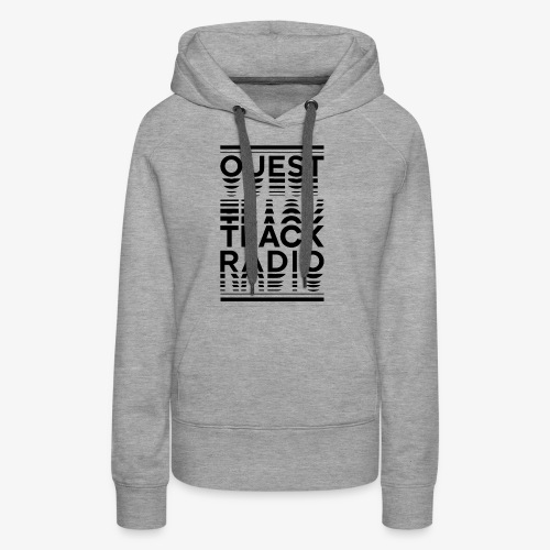 Logo Vertical Grand Noir - Sweat-shirt à capuche Premium pour femmes