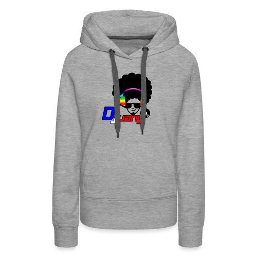 Djuany logo - Felpa con cappuccio premium da donna