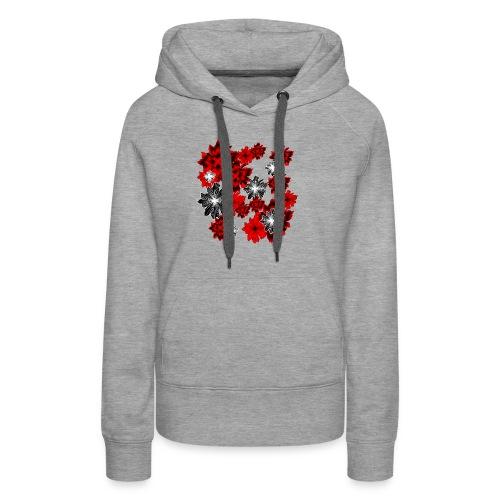 blutrot blüten - Frauen Premium Hoodie