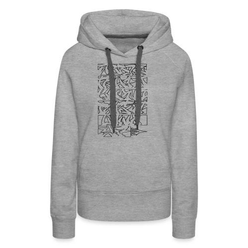 ALPHABET SOMER - Sweat-shirt à capuche Premium pour femmes