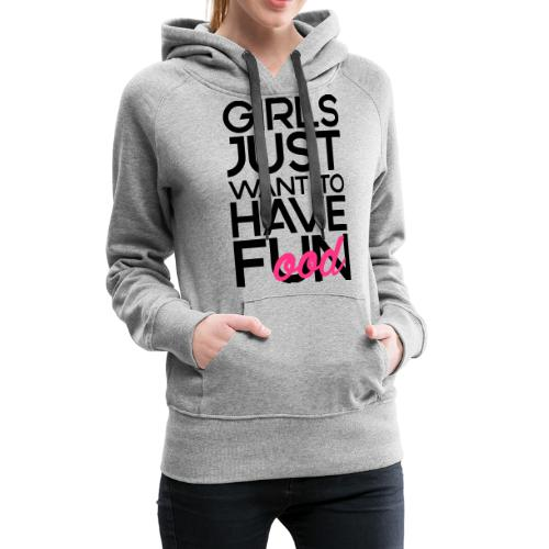 Girls just want to have food - Vrouwen Premium hoodie