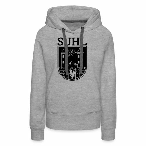 Suhl Coat of Arms (white) - Women's Premium Hoodie