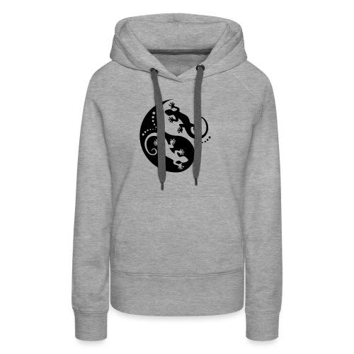 YIN & YANG Geckos black - Frauen Premium Hoodie
